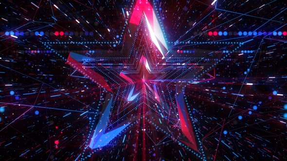 Good Night 3d Wallpaper Talent Show Star Background 4k By Gesh Tv Videohive