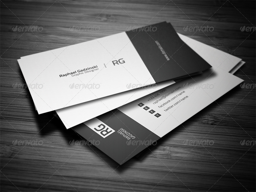 Simple Business Card by FlowPixels GraphicRiver - simple business