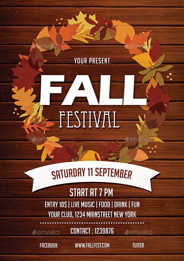 Fall Festival Flyer by vynetta GraphicRiver