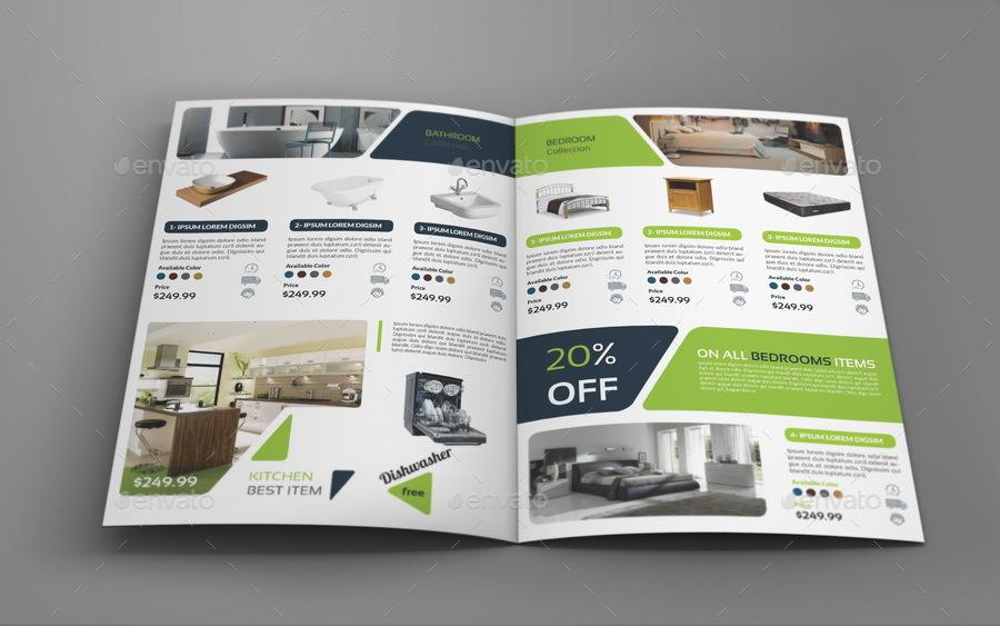 Products Catalogs Bi-Fold Brochure Template Vol2 by OWPictures - Product Brochure Template