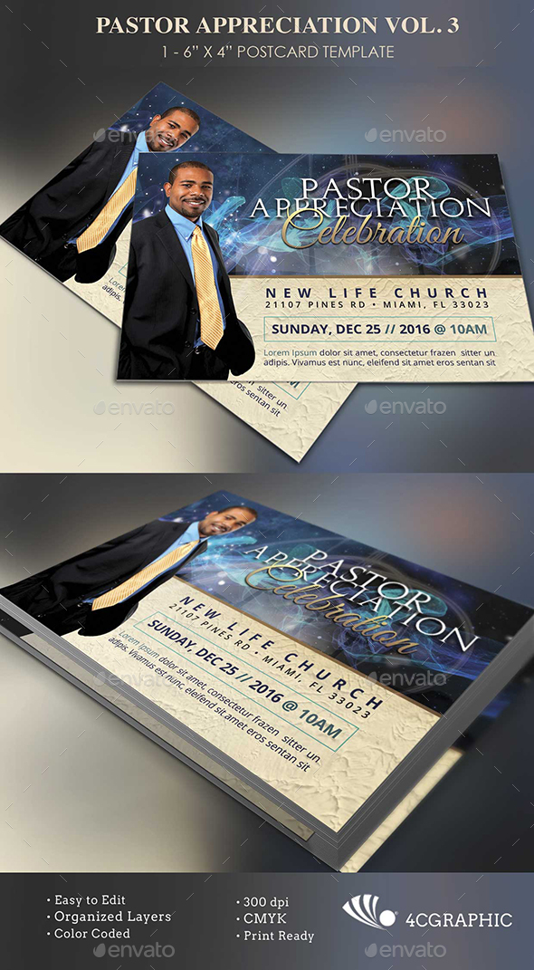 Starlight Pastor Anniversary Flyer Template Vol 3 by 4cgraphic2