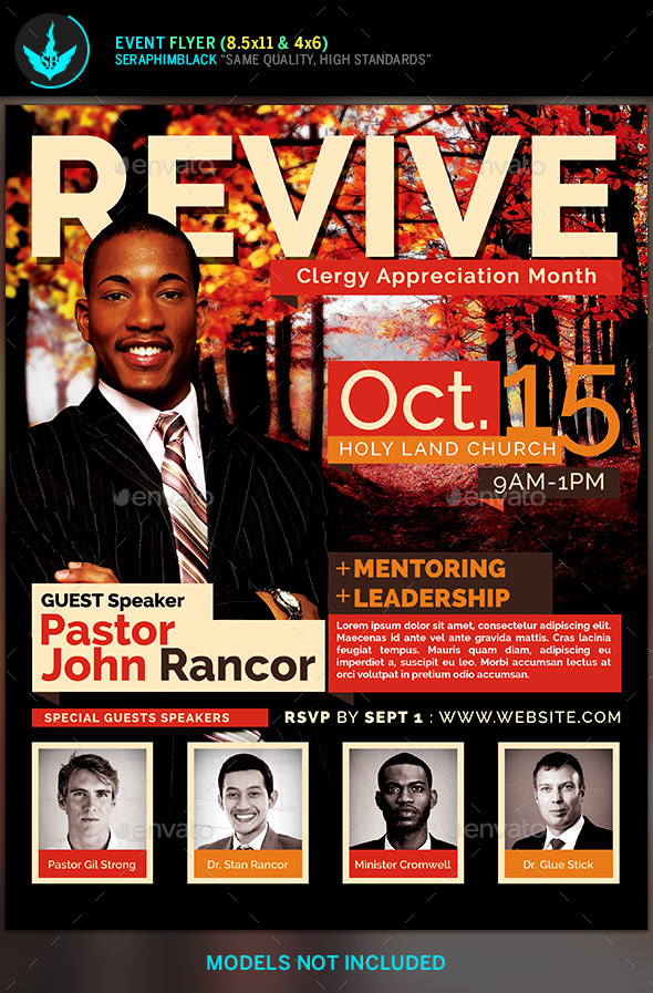 Revive Fall Church Flyer Template by SeraphimBlack GraphicRiver