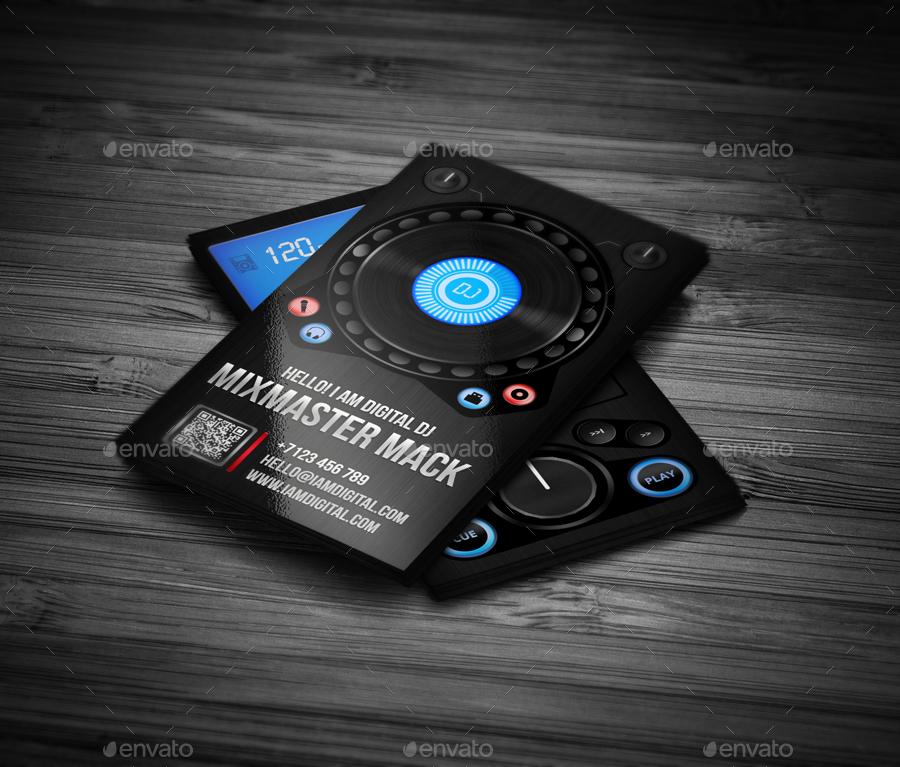 Digital DJ Business Card by vinyljunkie GraphicRiver