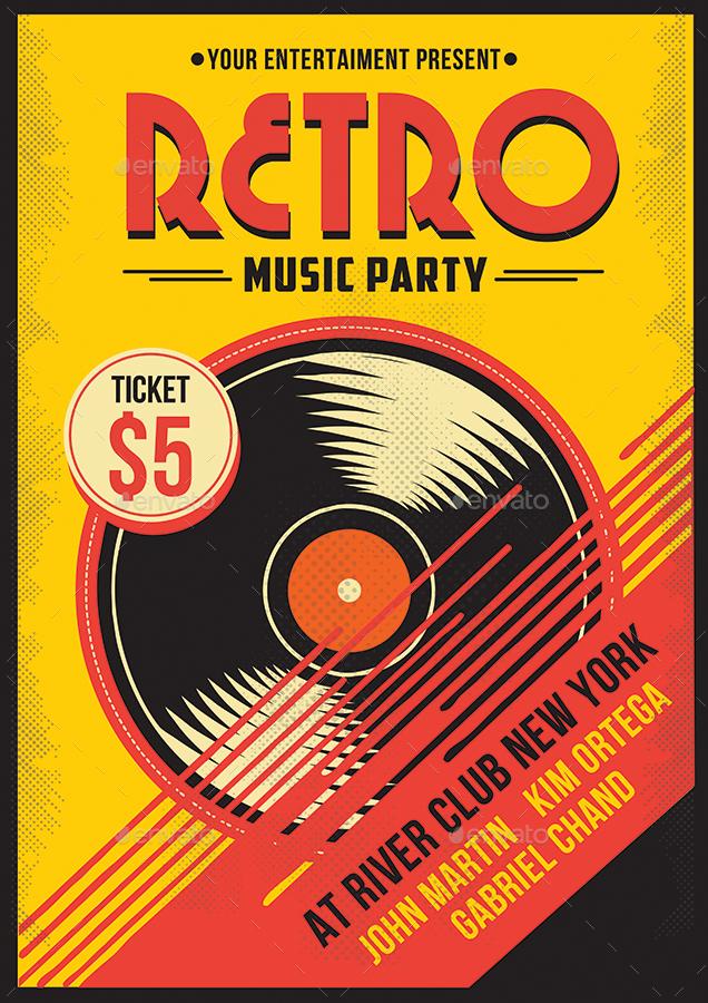 Retro Music Bundle Vol 1 by Muhamadiqbalhidayat GraphicRiver