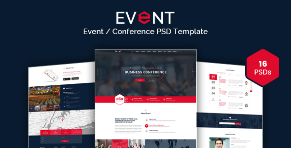 EVENT - Conference and Event PSD Template by Kalanidhithemes
