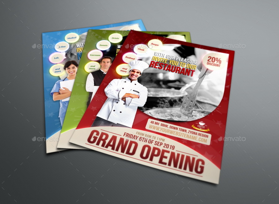 Grand Opening Flyer Template by OWPictures GraphicRiver - Grand Opening Flyer