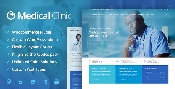 Medical Clinic - Health  Doctor Medical WordPress Theme by cmsmasters