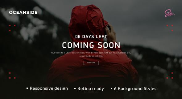 OceanSide \u2014 Responsive Coming Soon Template by WpWay_ ThemeForest