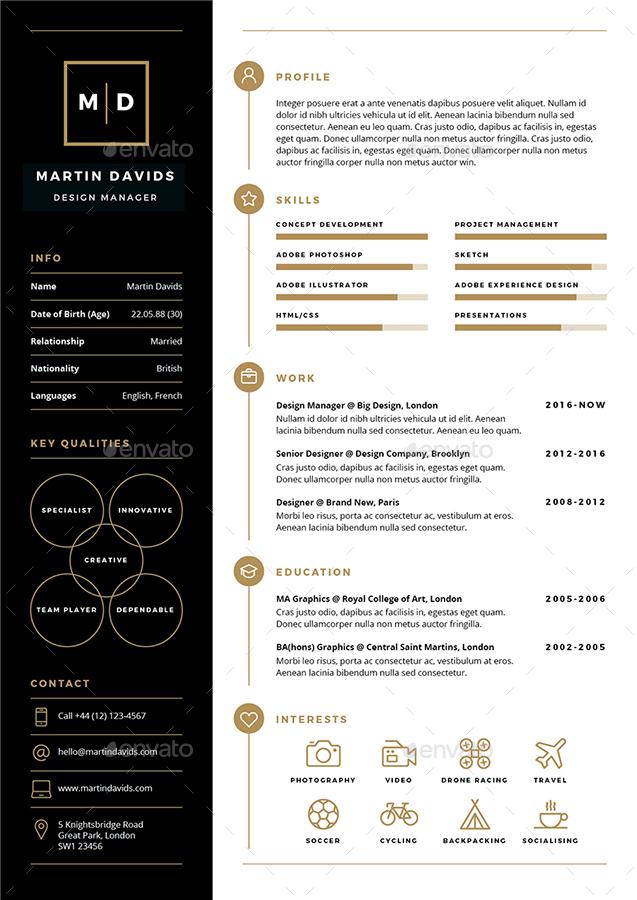 CV Resume by ikonome GraphicRiver - resume/cv