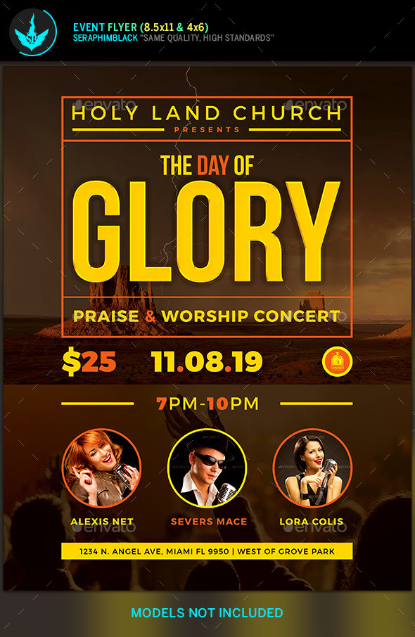 Day of Glory Gospel Concert Flyer Template by SeraphimBlack