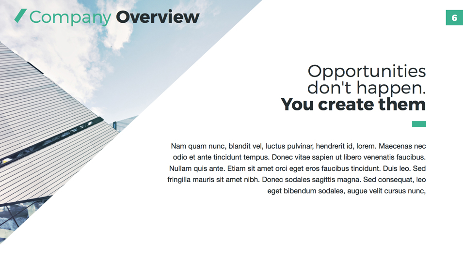 Company Profile - PowerPoint Presentation Template by Jetz