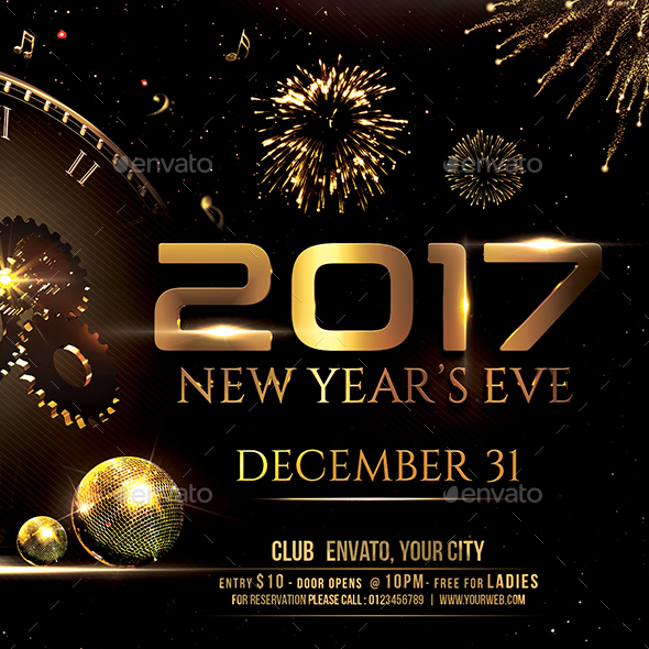 New Year Party Flyer by creativevalues GraphicRiver