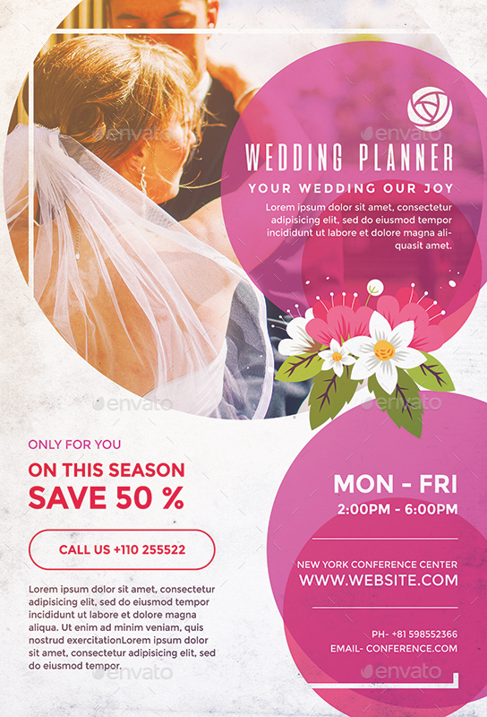 event planner flyer - Onwebioinnovate - wedding flyer