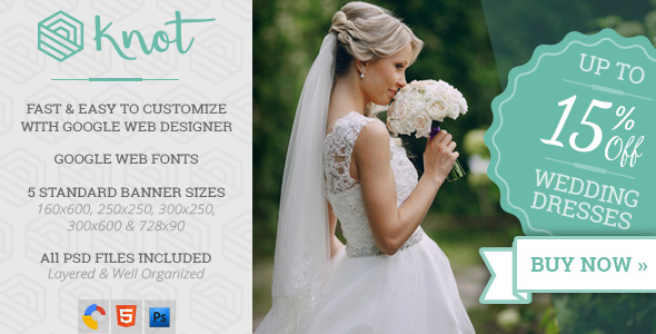 Knot - Wedding HTML5 Ad Template by WiselyThemes CodeCanyon