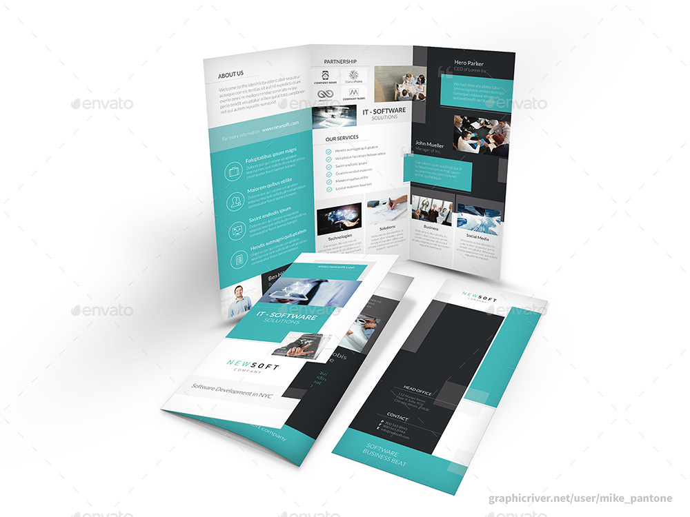 Software Company Trifold Brochure by Mike_pantone GraphicRiver