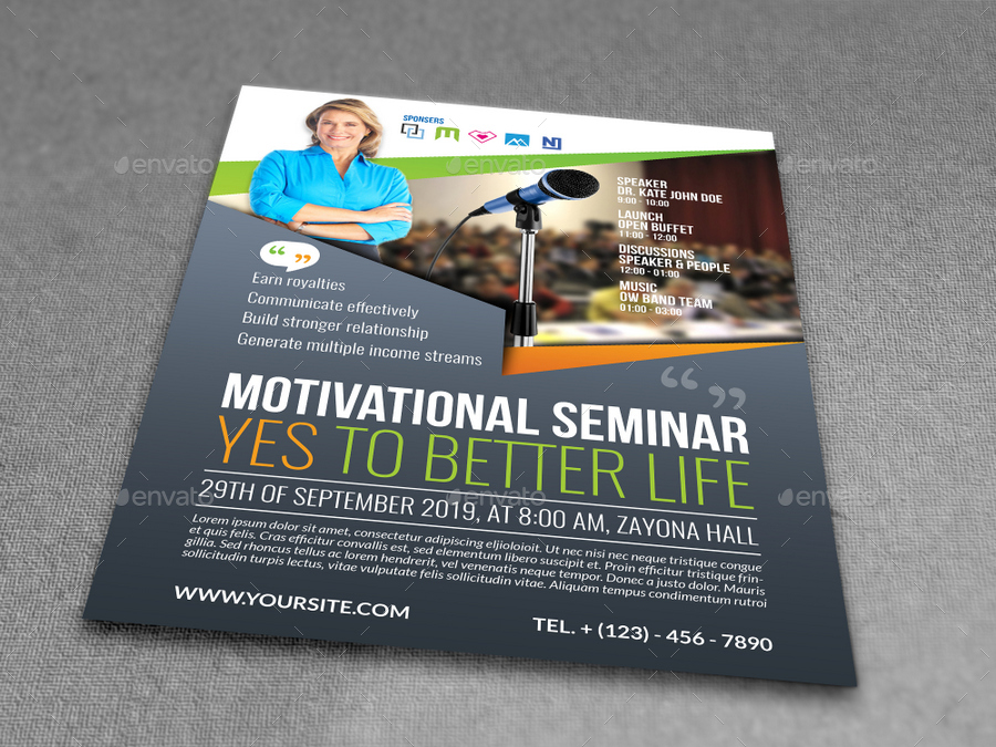 Fine Seminar Flyer Template Contemporary  Example Resume Ideas
