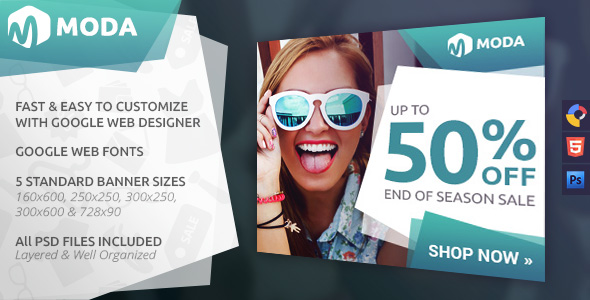 Moda - Fashion HTML5 Ad Template by WiselyThemes CodeCanyon