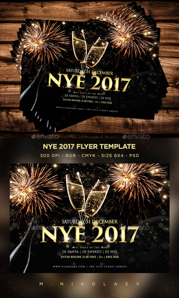 New Year 2017 Flyer by MaksN GraphicRiver