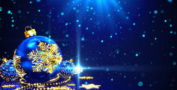 Blue Christmas Background by AS_100 VideoHive - christmas background image