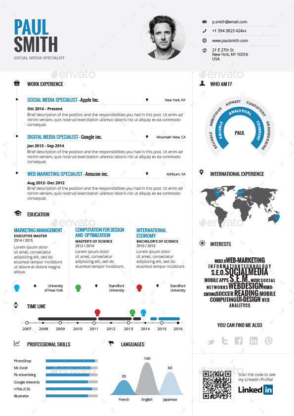 Infographic Resume Bundle by paolo6180 GraphicRiver - infographic resume templates