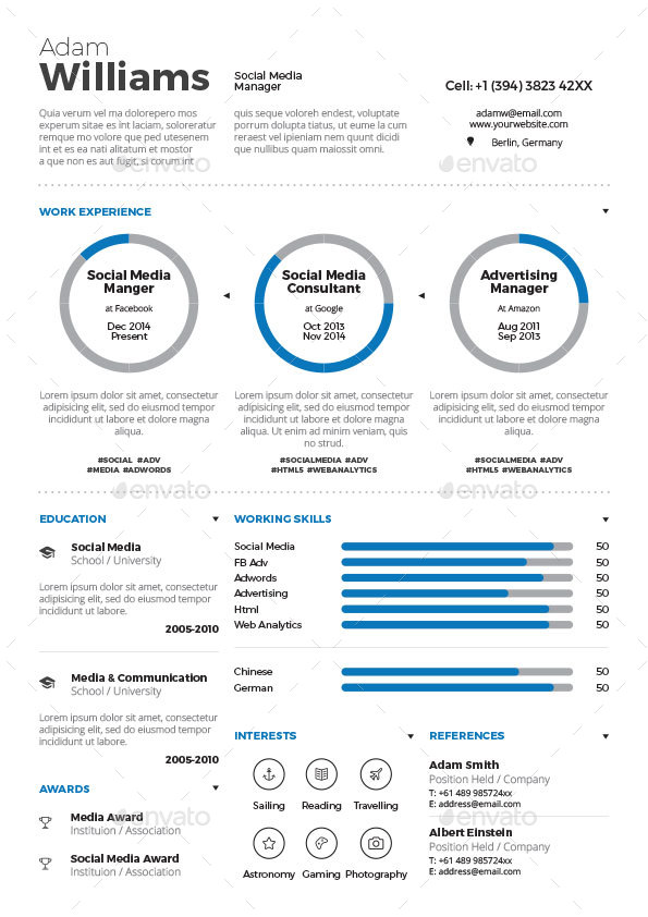 Infographic Resume Bundle by paolo6180 GraphicRiver - infographic resumes