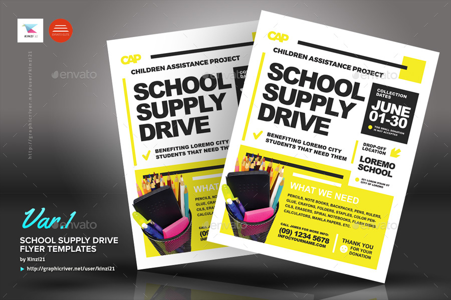 school supply drive flyer template - Towerssconstruction