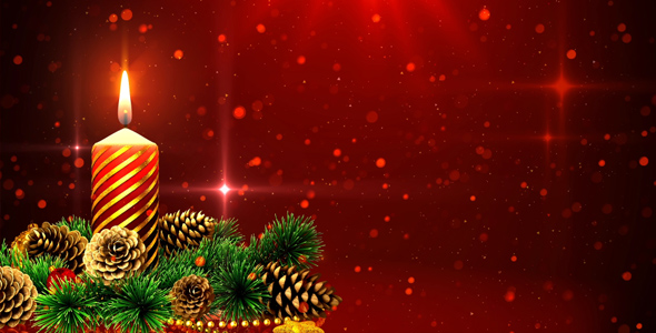 Red Christmas Background by AS_100 VideoHive - christmas background image