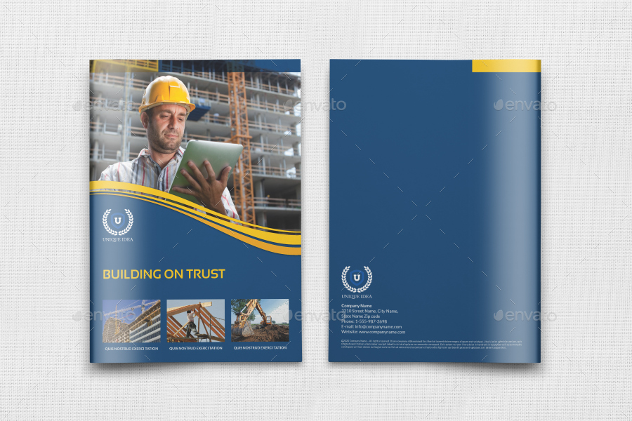 Construction Brochure Templates Costumepartyrun