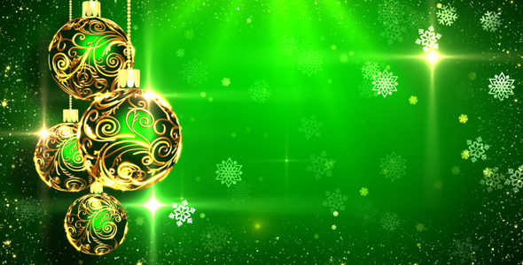 Green Christmas Background by AS_100 VideoHive