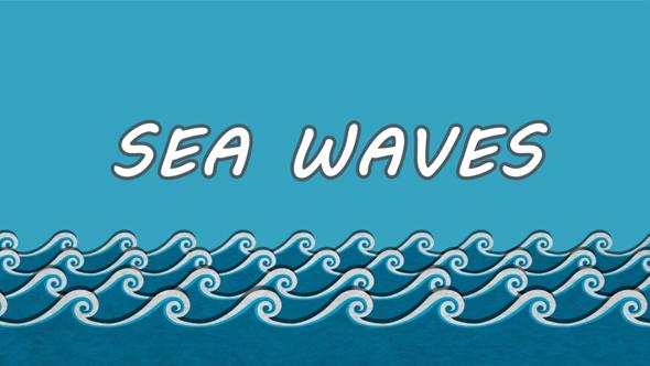 Cartoon Sea Waves by MadGogal VideoHive