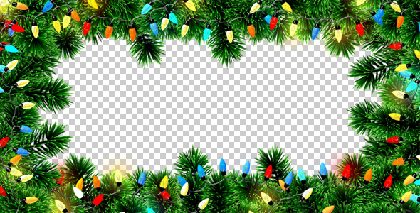 Christmas Lights Frame by AS_100 VideoHive