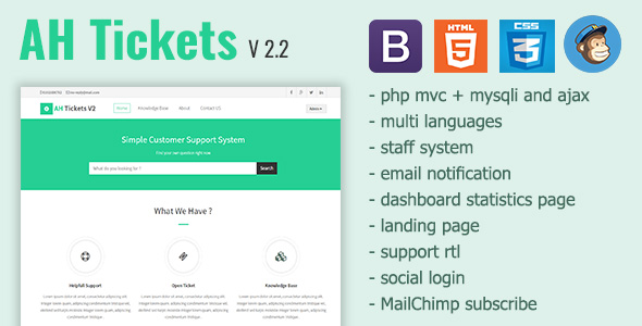AH Tickets - Help Desk and Support System by Tatwerat-Team CodeCanyon - help and support