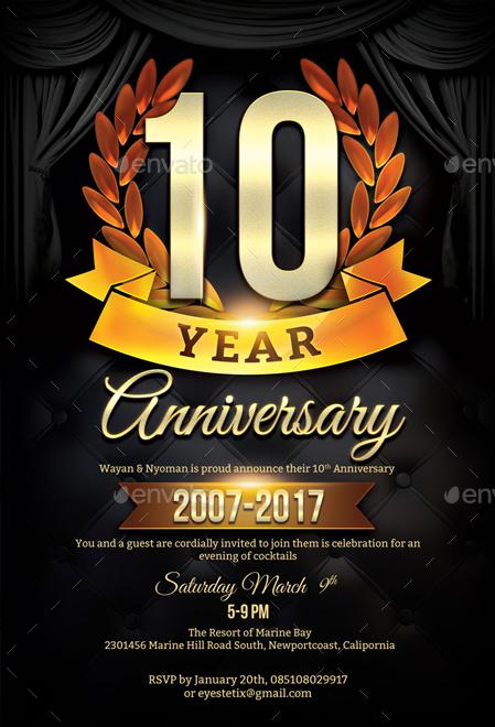 Anniversary Flyer Template by EyestetixStudio GraphicRiver