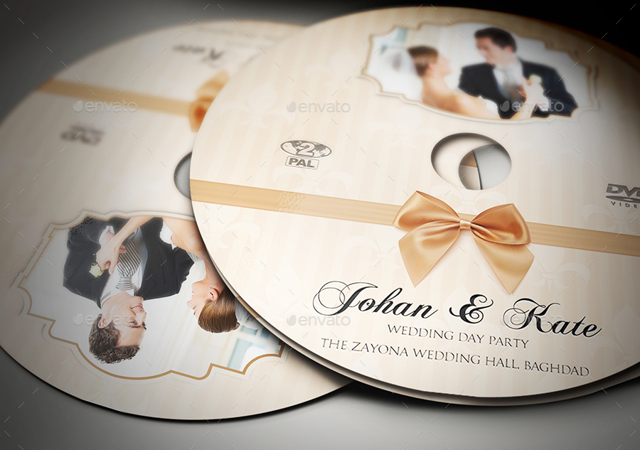 Wedding DVD Cover and Label Template Bundle Vol2 by OWPictures