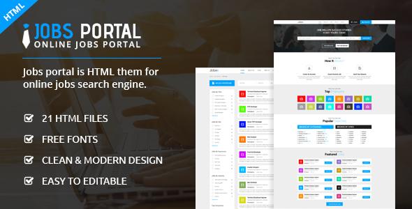 Jobs Portal - Online Jobs Search Template by ecreativesol ThemeForest