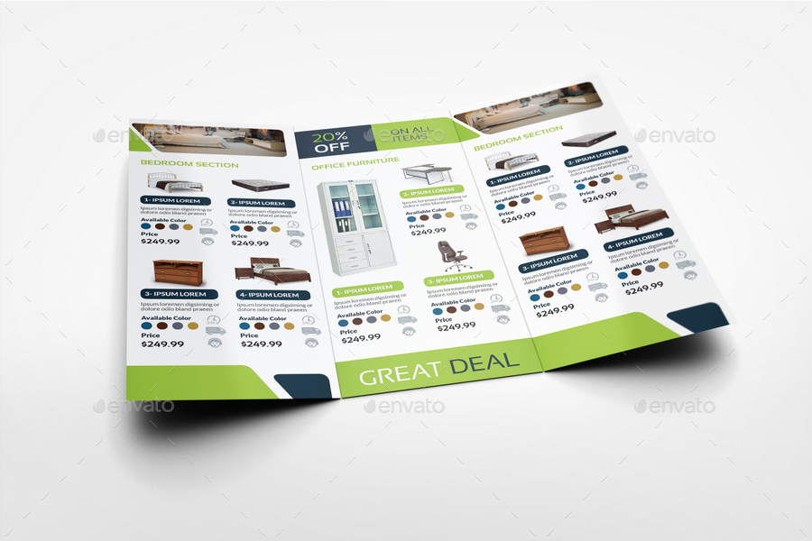 Furniture Products Catalog Tri-Fold Brochure Template Vol2 by
