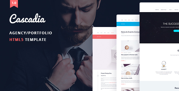 Cascadia - Agency/Personal Portfolio HTML5 Template by ArtTemplate - html5 template tag
