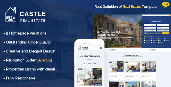 Castle - Real Estate Template by BrighThemes ThemeForest
