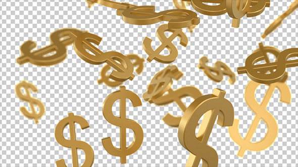 Money Falling Wallpaper Golden Dollar Signs Falling By Se5d Videohive
