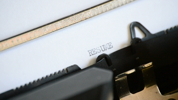Typing Resume with a Typewriter by IANM35 VideoHive