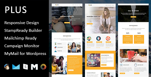 Plus - Multipurpose Responsive Email Template with Stampready