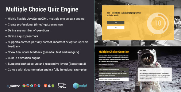 Multiple Choice Quiz Engine by Escript CodeCanyon