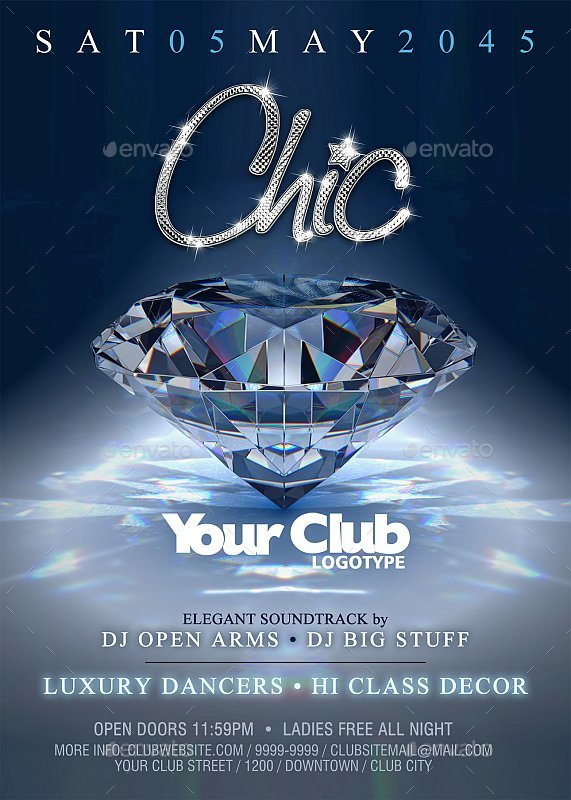 Chic - Party Flyer / Poster by pabloandradearte GraphicRiver - party flyer