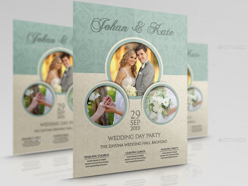 Wedding Party Flyer Template Vol6 by OWPictures GraphicRiver