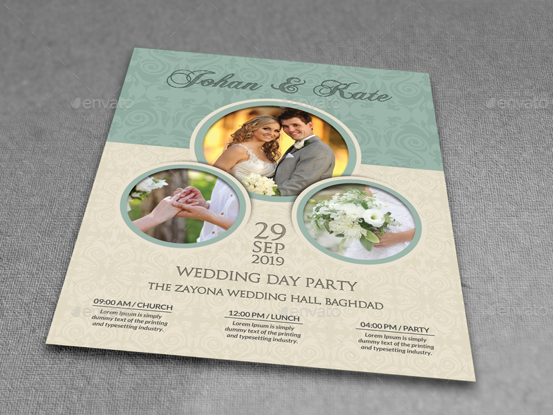 Wedding Party Flyer Template Vol6 by OWPictures GraphicRiver - wedding flyer