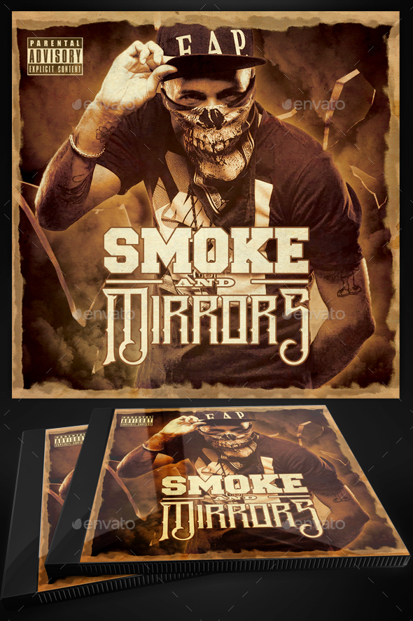 Grunge Mixtape Artwork CD Template PSD by Yellow_Emperor GraphicRiver