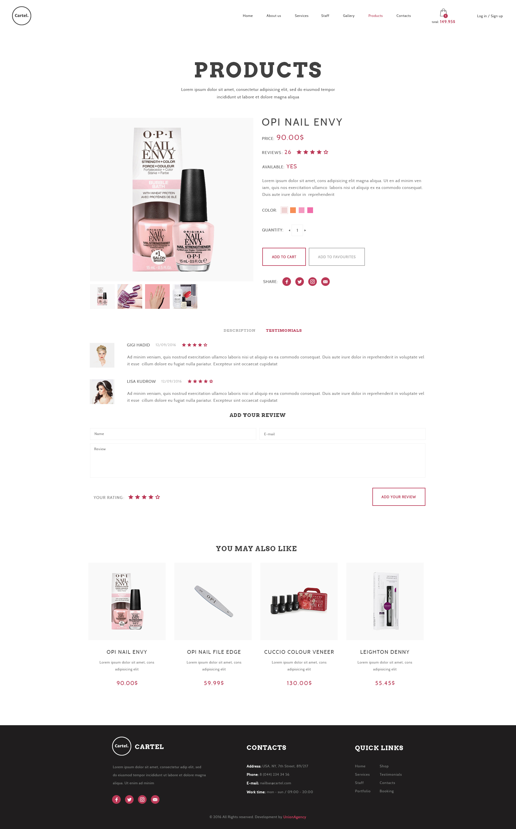 Salon E Commerce 2016 Cartel Salon Barber Beauty Ecommerce Psd Template