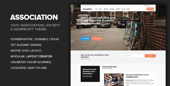 Association - Civic, Society, Third Sector  Nonprofit theme by Dannci - neighborhood website templates