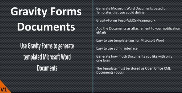 Gravity Forms (Word) Documents by naranili CodeCanyon - ms word for sale