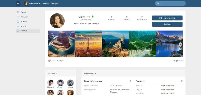 Bootstrap Social Network by social-liberty CodeCanyon